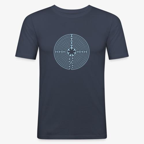 Labyrinth von Chartres - Männer Slim Fit T-Shirt