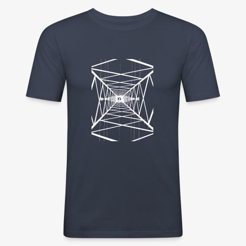 Hochmast V2 Weiß - Männer Slim Fit T-Shirt