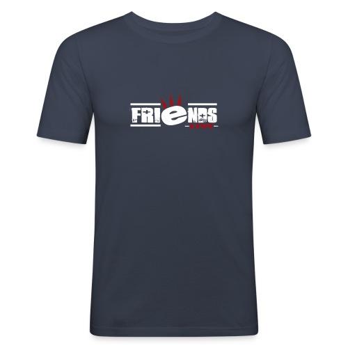 friendslogo white - Männer Slim Fit T-Shirt