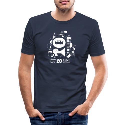 ESME Anniversary Design Weiss - Männer Slim Fit T-Shirt