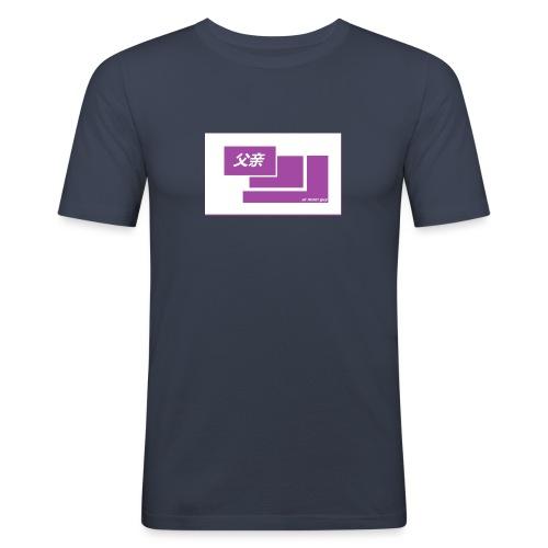 thoughtful mom gay design box logo - Miesten tyköistuva t-paita