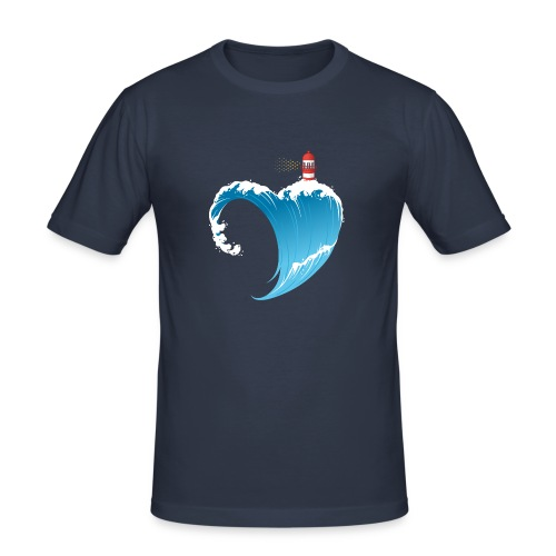 Ostseeherz - Männer Slim Fit T-Shirt