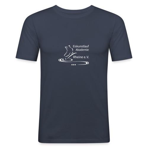 EARheine Logo weiss - Männer Slim Fit T-Shirt