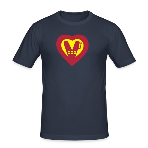 super vegan heart - Men's Slim Fit T-Shirt