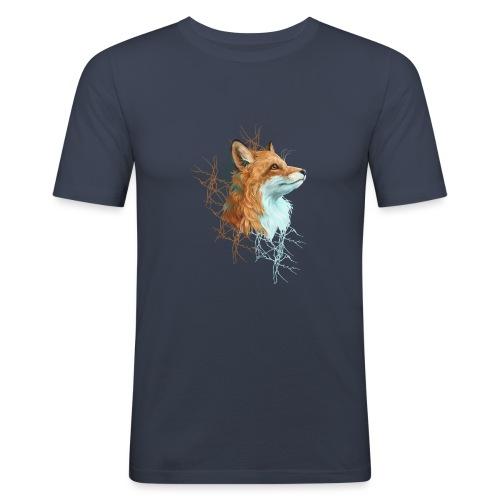 Happy the Fox - Männer Slim Fit T-Shirt