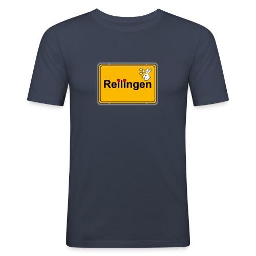Reilinger Ortsschild - Männer Slim Fit T-Shirt
