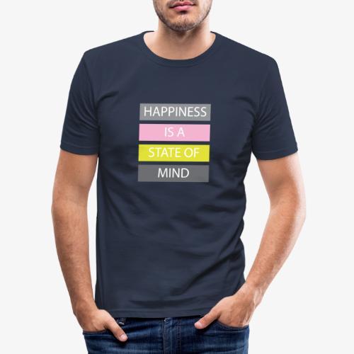 Happiness - Maglietta aderente da uomo