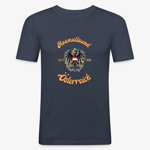 Österreich hoamatlaund retro desígn - Männer Slim Fit T-Shirt