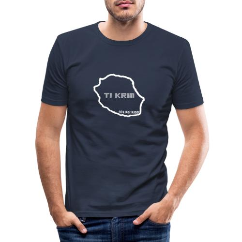 Ti krim - blanc - T-shirt près du corps Homme