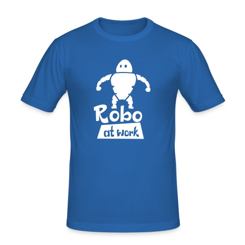 robot at work - Männer Slim Fit T-Shirt