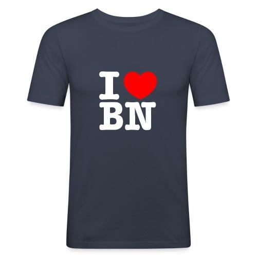 ilovebn white - Männer Slim Fit T-Shirt