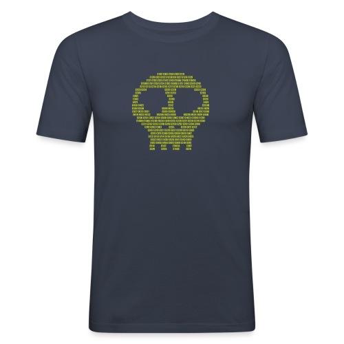 E - aditives skull - Men's Slim Fit T-Shirt