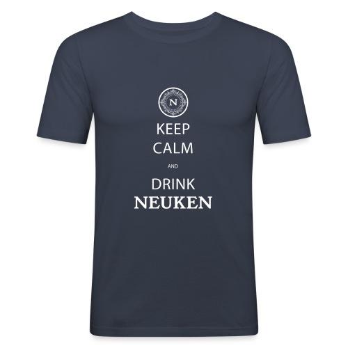 keep calm drink neuken - Mannen slim fit T-shirt