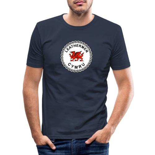 LeatherMen Cymru Logo - Men's Slim Fit T-Shirt
