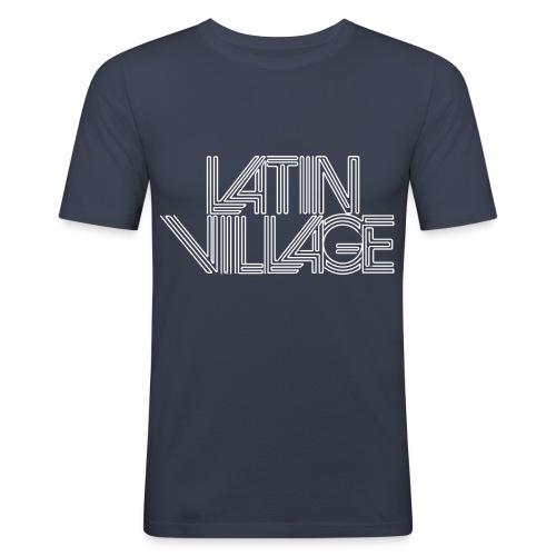 logo latin village westergas - Mannen slim fit T-shirt