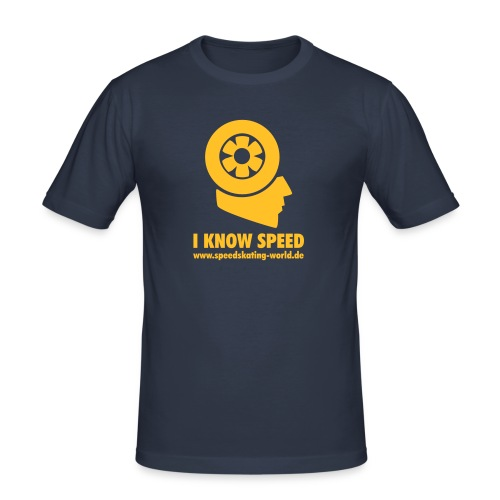 shirtlogourlfinal - Männer Slim Fit T-Shirt