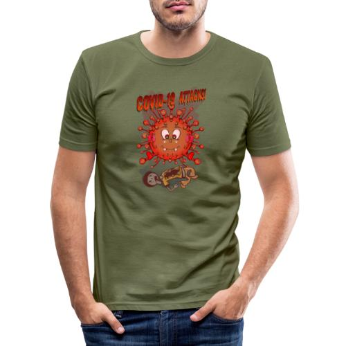 CoVid 19 Attacks! - Männer Slim Fit T-Shirt