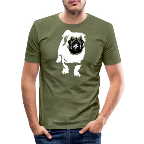 Mops Hund Hunde Möpse Geschenk - Männer Slim Fit T-Shirt