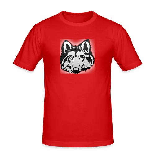 Wolfie (Red) - Men's Slim Fit T-Shirt
