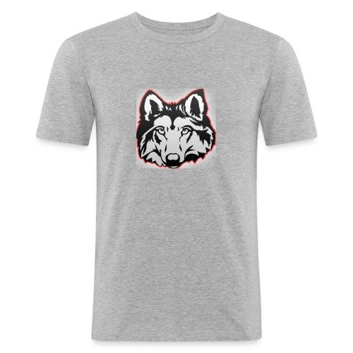 Wolfie (Red) - Men's Slim Fit T-Shirt