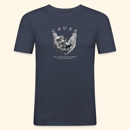 Association CAUSA texte blanc - T-shirt près du corps Homme