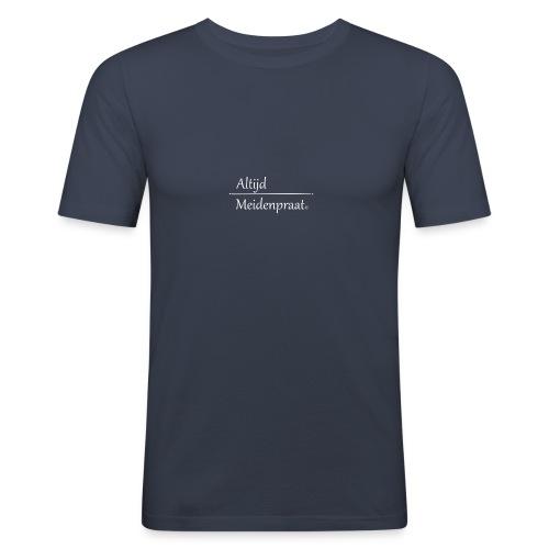 Stoffen Tas Altijd Meidenpraat - Mannen slim fit T-shirt