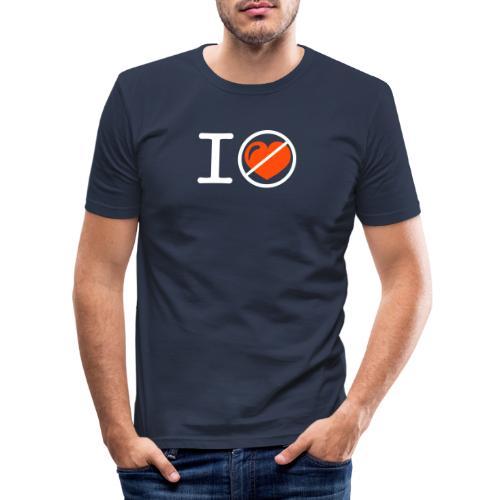 Cool i heart not love - Mannen slim fit T-shirt