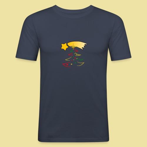 Weihnachtsbaum mit einer Sternschnuppe - Männer Slim Fit T-Shirt