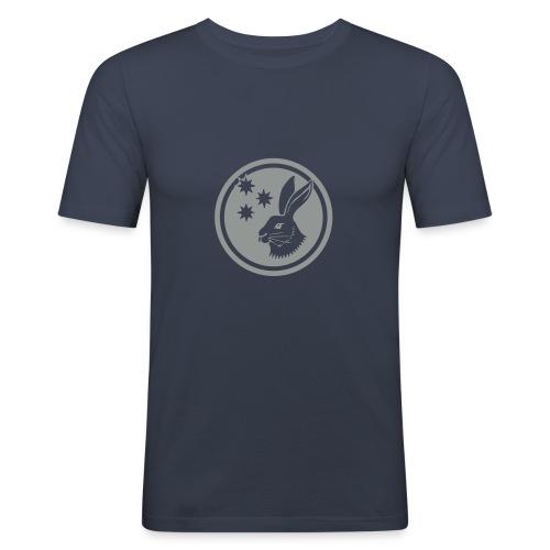 Reilinger Hase im Kreis - Männer Slim Fit T-Shirt