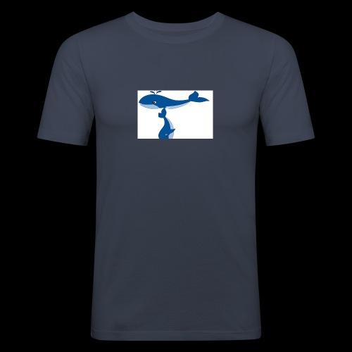 whale t - Men's Slim Fit T-Shirt