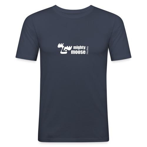 mightymoosehockey logo3 1c - Männer Slim Fit T-Shirt