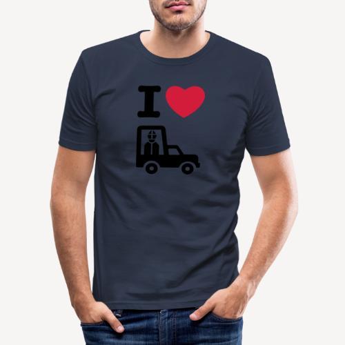 Papst im Auto - Men's Slim Fit T-Shirt