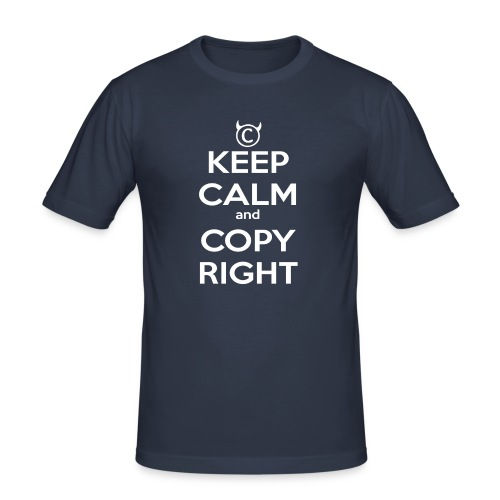 Keep Calm and Copyright - Tank for the individual - Männer Slim Fit T-Shirt