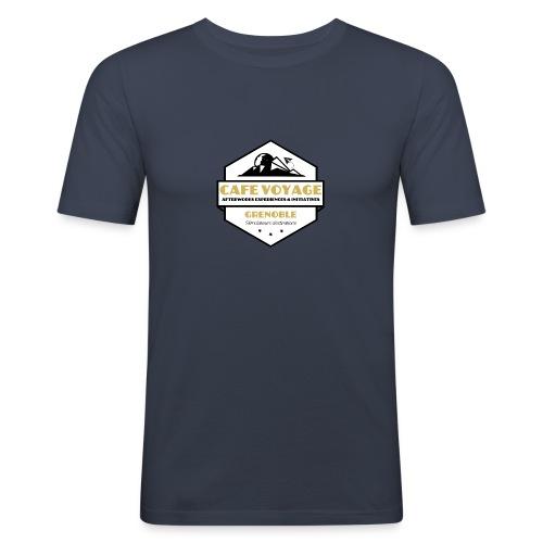 Logo CafeVoyage 02 png - T-shirt près du corps Homme
