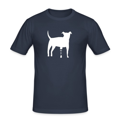 Canidius Dog White - Männer Slim Fit T-Shirt