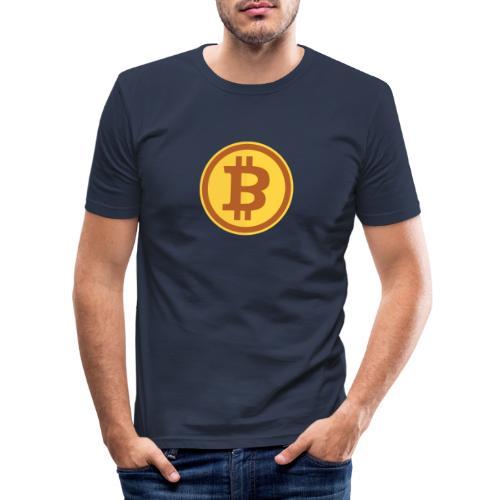 Bitcoin - Männer Slim Fit T-Shirt
