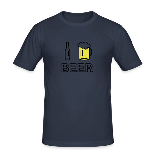 I Love Beer (2-farbig) - Männer Slim Fit T-Shirt