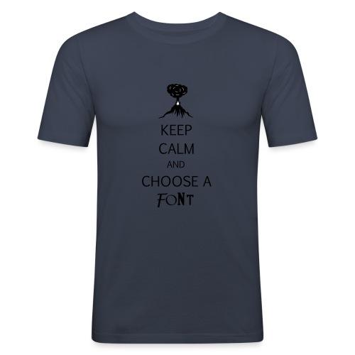 keep calm font - T-shirt près du corps Homme