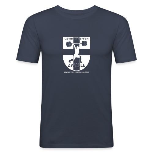 Bestsellers Gewichtheffen Zwolle - Mannen slim fit T-shirt
