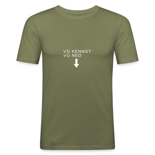 mundart vuekennst - Männer Slim Fit T-Shirt