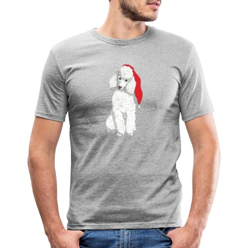 Poodle toy W - christmas - Herre Slim Fit T-Shirt