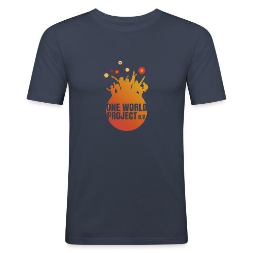 One World Project e. V. - Logo - Männer Slim Fit T-Shirt