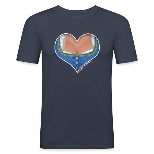 Ein Herz für Busen - Männer Slim Fit T-Shirt
