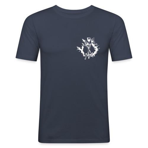 bemalforum brust weiss GIF - Männer Slim Fit T-Shirt