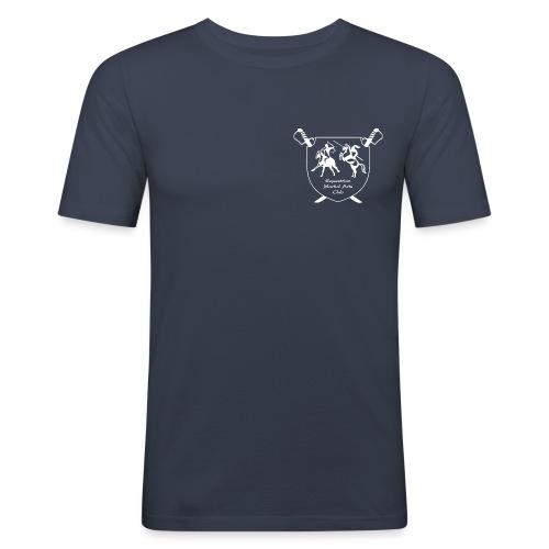 logo miekallinen vastaväri - Miesten tyköistuva t-paita