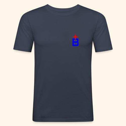 b logo - Männer Slim Fit T-Shirt