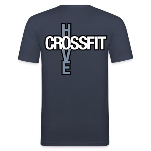 crossfithove logo - Men's Slim Fit T-Shirt