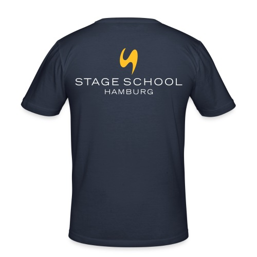 stage school logo neg - Männer Slim Fit T-Shirt