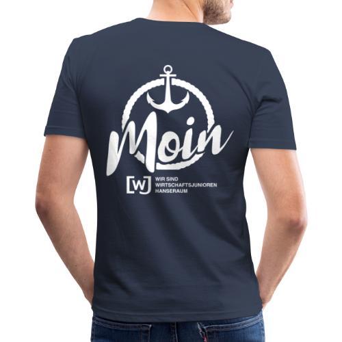 Moin Hanseraum weiß - Männer Slim Fit T-Shirt