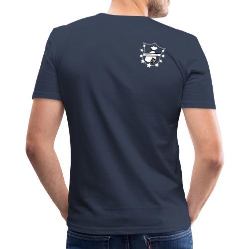 Sackschutz Logo SW - Männer Slim Fit T-Shirt